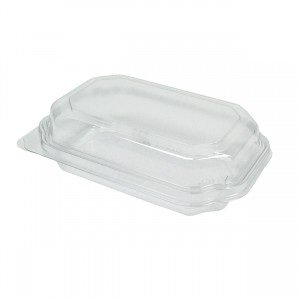 12oz Clear PET Polygon Clamshell (252)