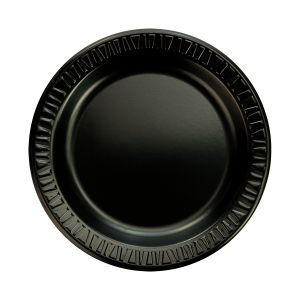 "9"" Black Laminated 1 Comp. Plate (500)"
