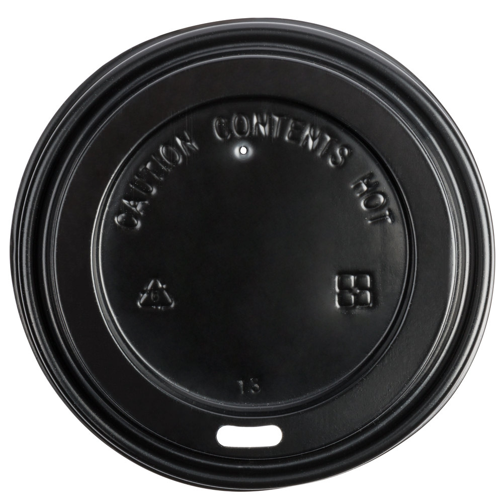 Coffee Lid, Black for 12, 16, 20 oz Hot Cup (1200)