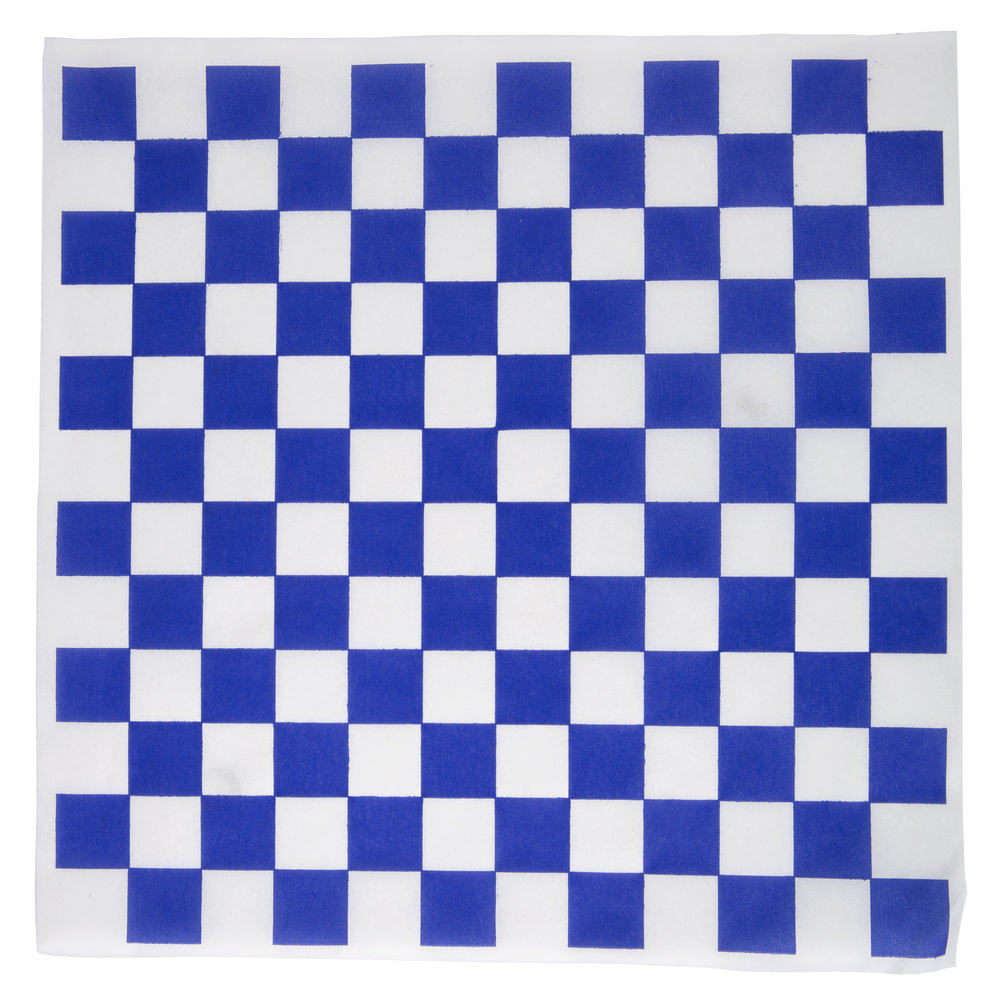 "12"" x 12"" Blue Checkered Paper Greaseproof (1000)"