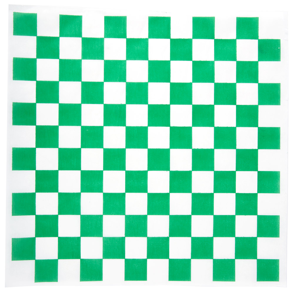"12"" x 12"" Green Checkered Paper Greaseproof (1000)"