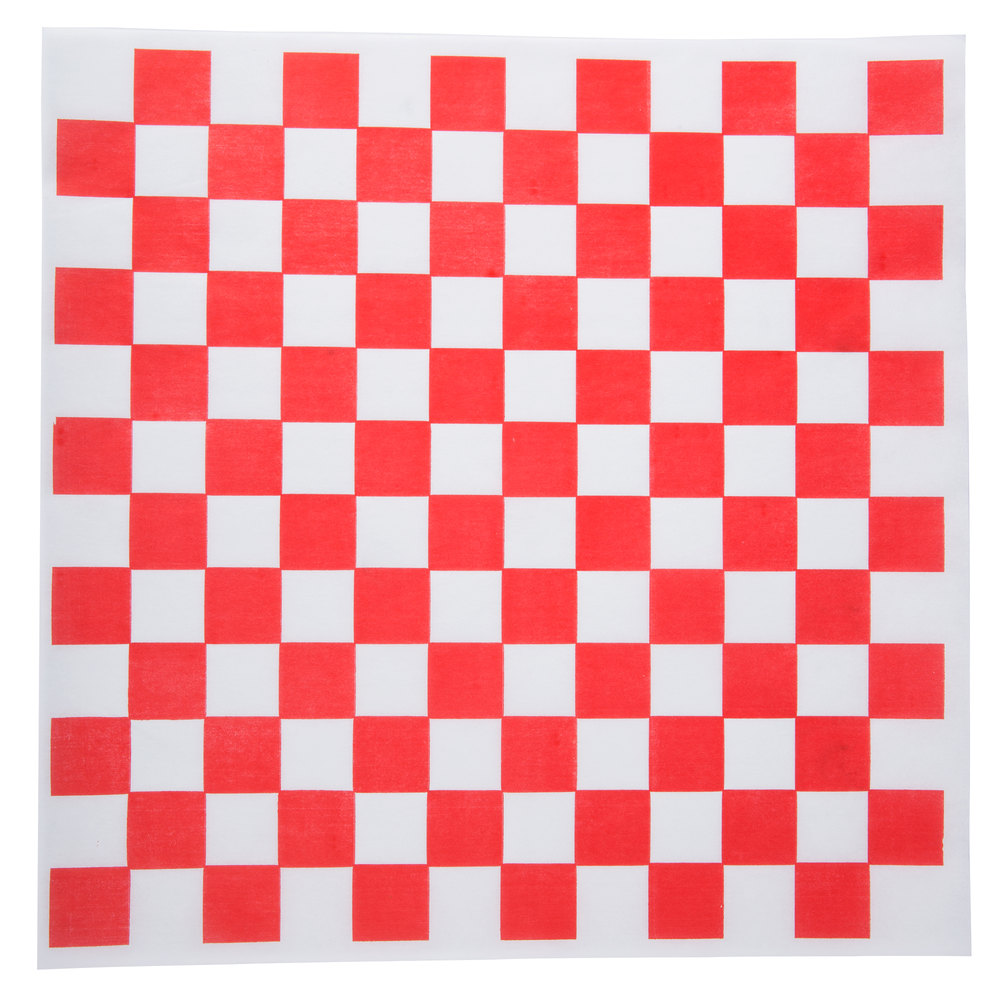 "12"" x 12"" Red Checkered Paper Greaseproof (1000)"