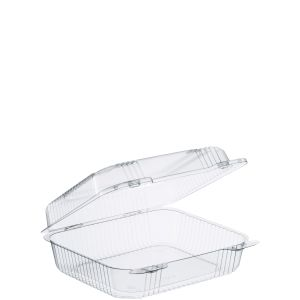 "Clear Medium 1 Comp Carryout 8""x7.8""x3"" (250)"