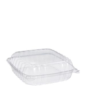 "Clear Large 1 Comp Carryout 9""x9""x3"" (200)"