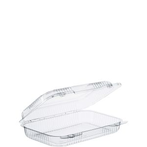 "Clear Shallow XOblong Carryout 9.5""x6.8""x2"" (250)"