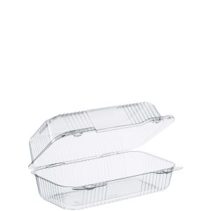 "Clear Medium Oblong Carryout 9""x5.5""x3.5"" (250)"