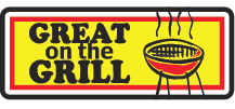 """Great on the Grill"" Large Label"
