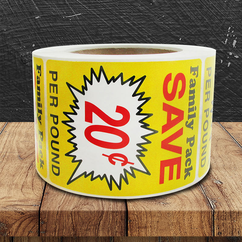 """Value Pack Save 20"" Label (Roll)"