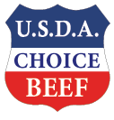 """USDA Choice Beef"" Shield Label (Roll)"