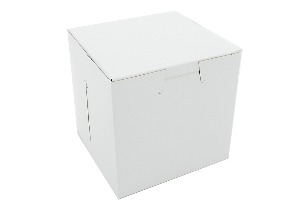 "White Bakery Box,  4.5""x4.5""x4.5""cupcake"