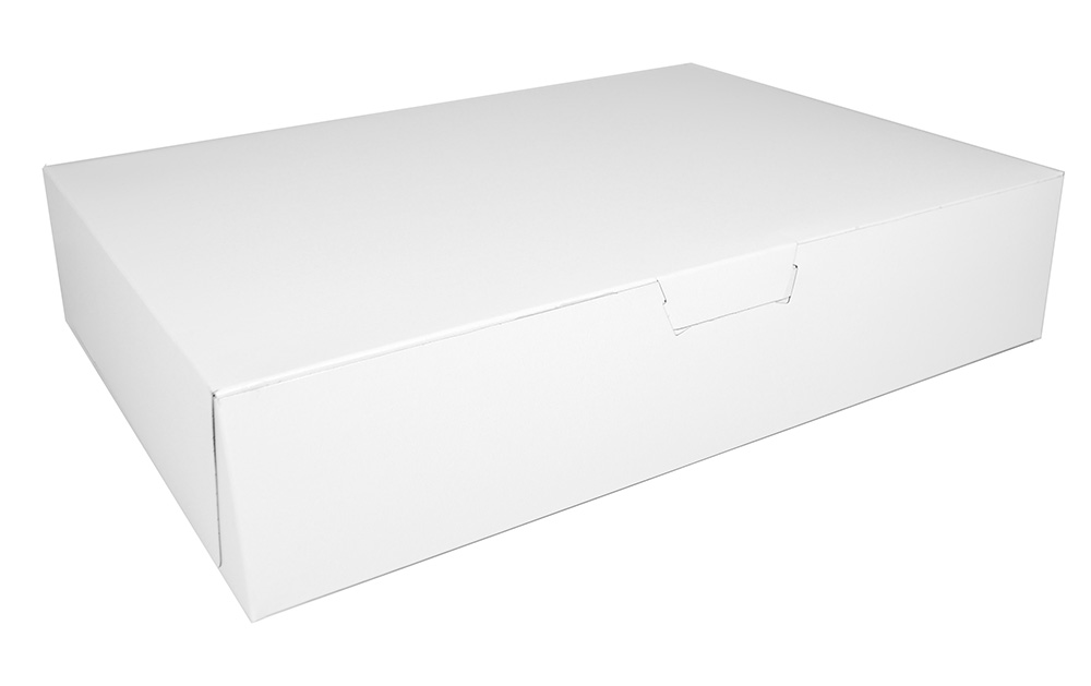 16x16x6 White lock corner  bakery box(50)