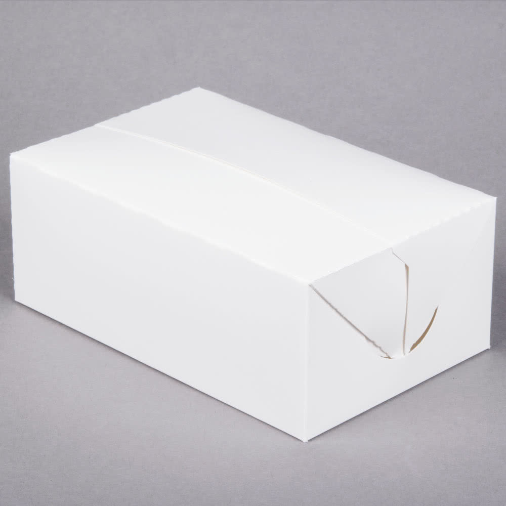 "White Snack Box, 7"" x 4.5"" x 2.75"" (250)"