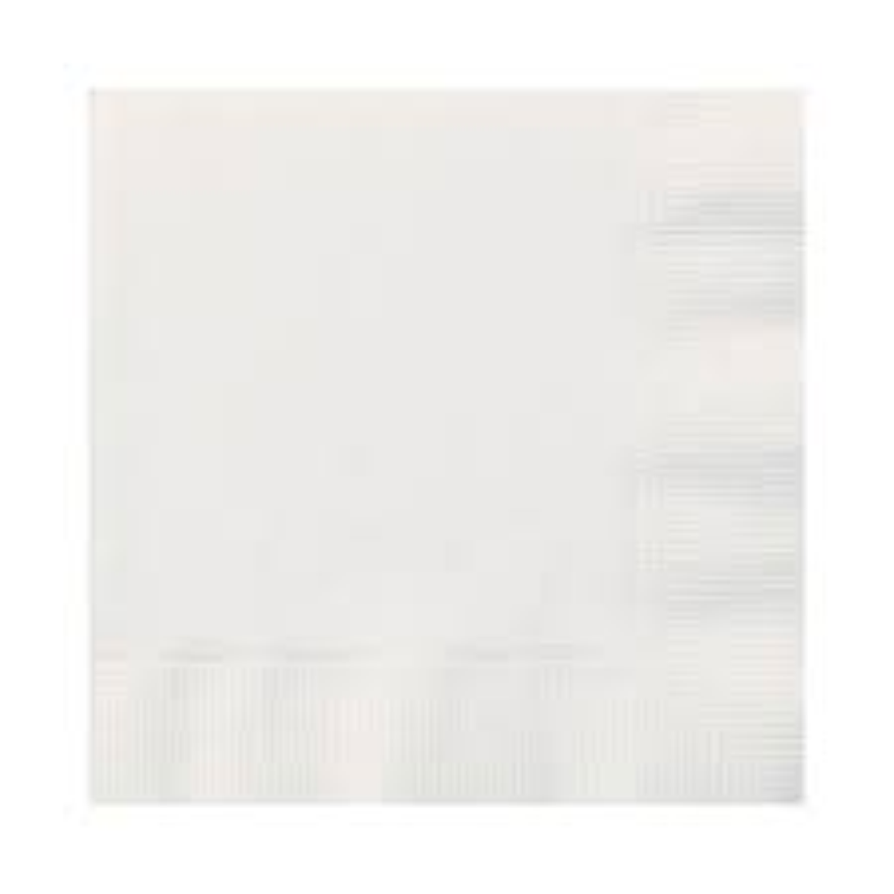 "10""x10"" White Beverage Napkin 1-ply (4000)"