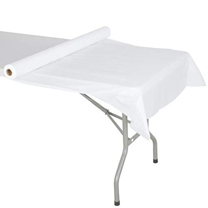 "40"" x 300' White Table Cover Plastic"